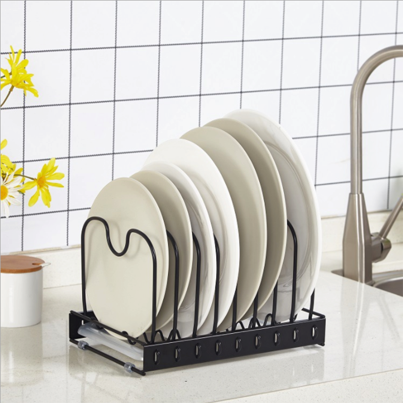 dish drying rack with utensil <strong>holder</strong> detachable separation <strong>steel</strong> wire 11&quot;*7&quot;*6.7&quot; -black