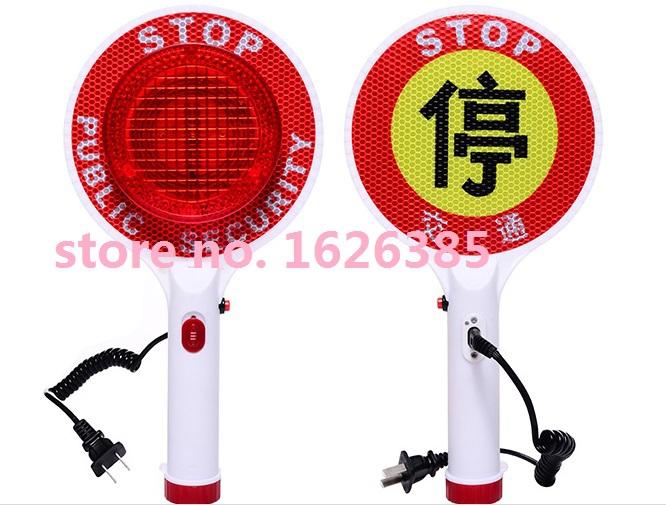 Профессиональное качество из светодиодов аккумуляторная парковка предупреждающие знаки / ручной трафика стоп слово / трафика батон