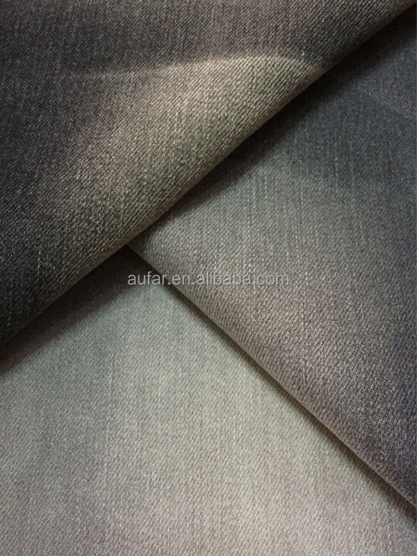 Aufar twill slub cotton elastane fabric denim for garment trousers