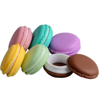 Mini Macaron Shape Silicone Round Shape Travel Organizer Pill Case Container box for Kids