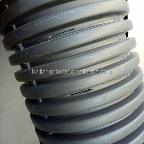 Large diameter lightweight hdpe plastic drain pipe mm