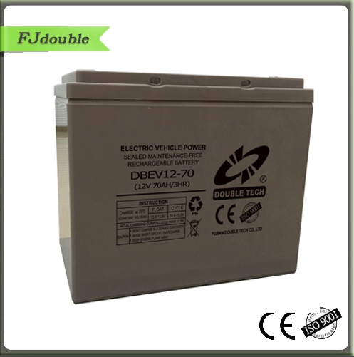 Cheap smf long life 12v dc rechargeable battery for e-tricycle 70 ah acid battery