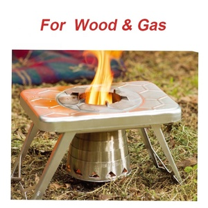 Multi fuel windproof camping stove, compact lightweight