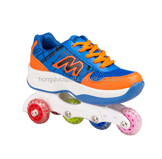 2017 Outdoor sport shoes with wheel,Boy roller shoes