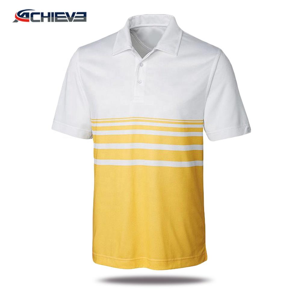 2018 Sublimation Printed Polo Tee Shirt Oem Service Short Sleeve