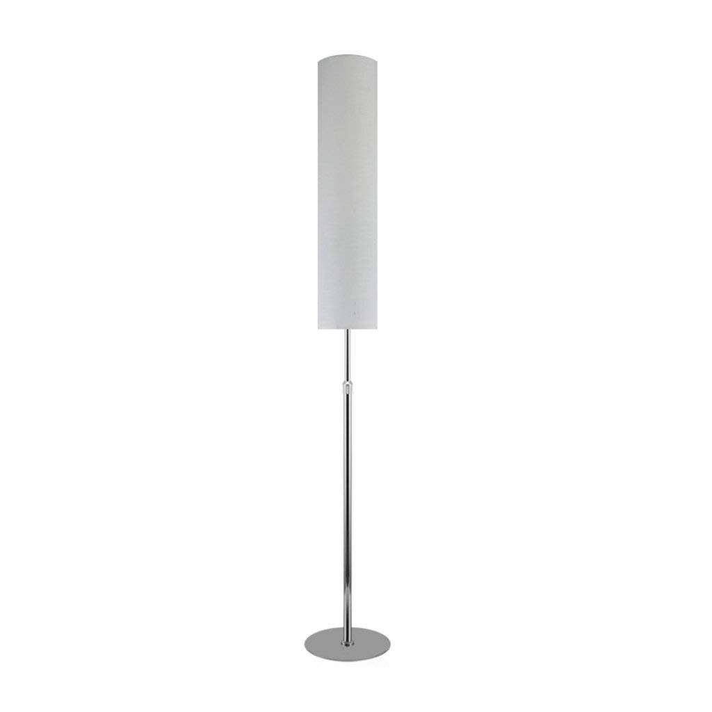 Retractable LED Floor Lamp, Living Room Vertical Eye Protection Desk Lamp, Chinese Bedroom Headboard Reading Light, Stepless Remote Control, H130-185cm2315cm (E271) (Color : White silver body)