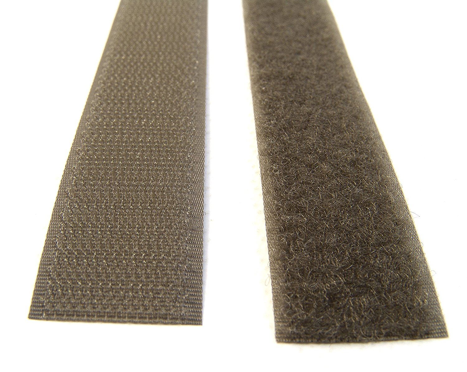 """Hook & Pile Tape, Olive Drab, 1"""" Inch Width Sold By The Foot, 12"""" Inch Lengths"""