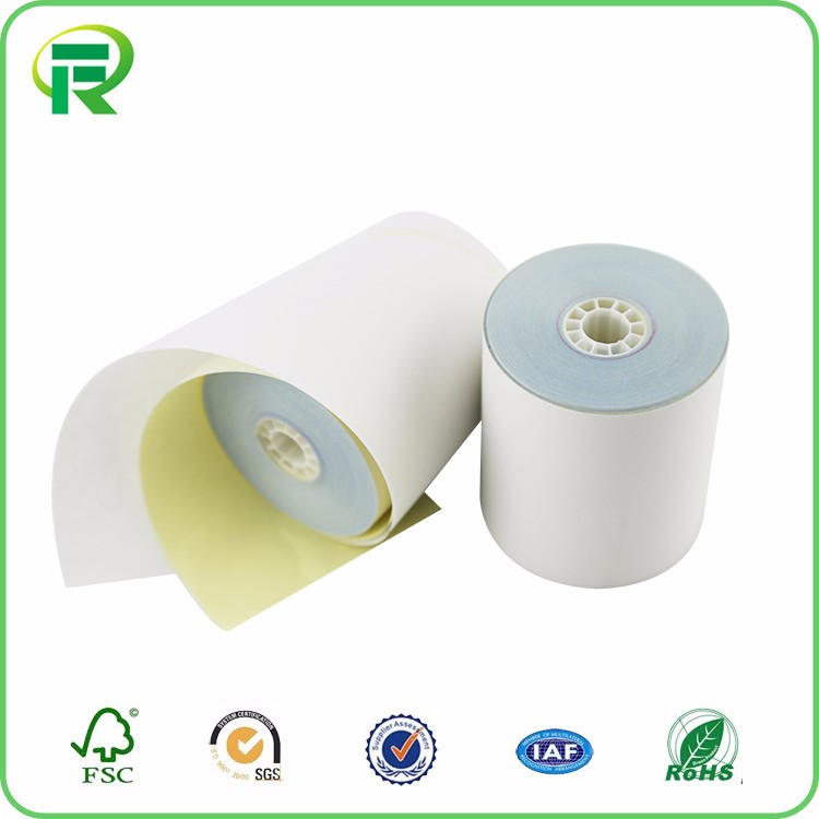 2017 hot selling 2-ply carbonless NCR thermal paper roll from China