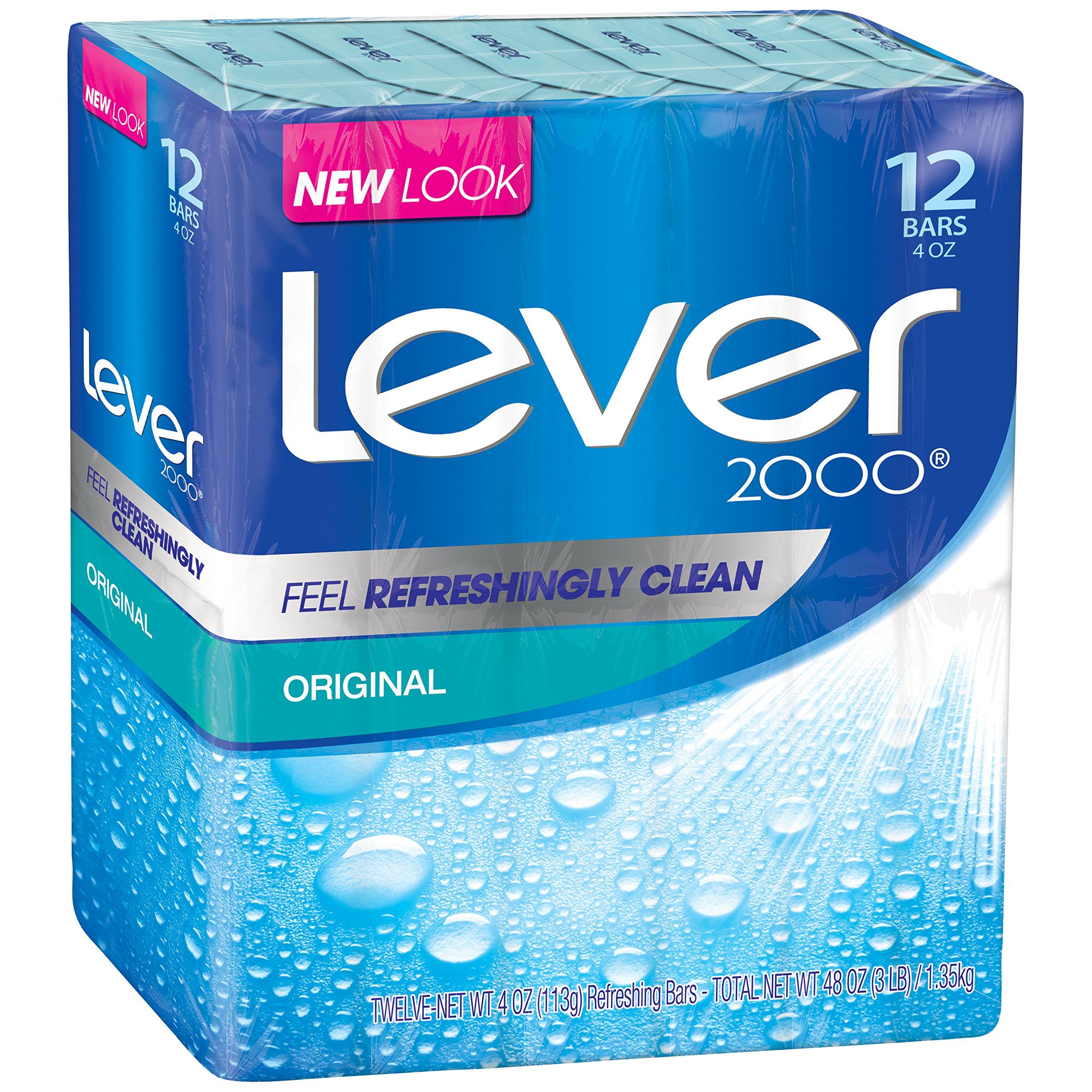 Lever 2000 Bar Soap, Original, 4 oz, 24 Bar
