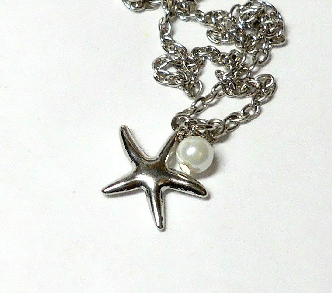 Starfish ankle bracelet by BethExpressions, silver chain anklet, silver starfish ankle bracelet