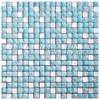 Pur Unique Mer Bleu Glace Craquelé Mosaïque De Verre Brisé Sauna Spa Salle  De Bains Carrelage Prix À Vendre - Buy Tuile De Mosaïque De Verre Craquelé  ...