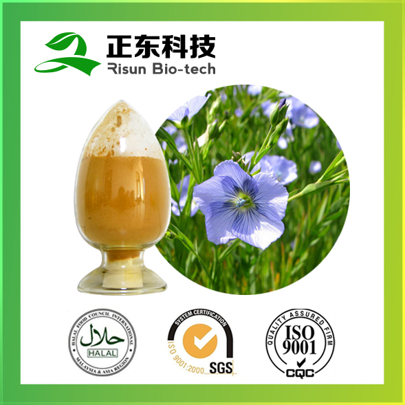 Chinese manufacture natural plant extract flaxseed extract 40% lignans powder