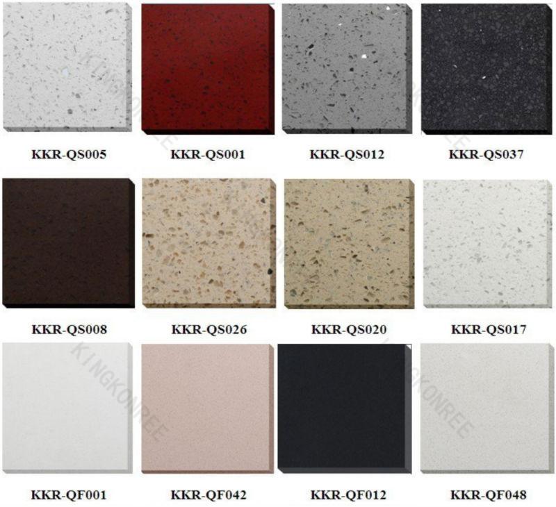 Black Engineered Quartz White Starlight Stone Composite Slabs