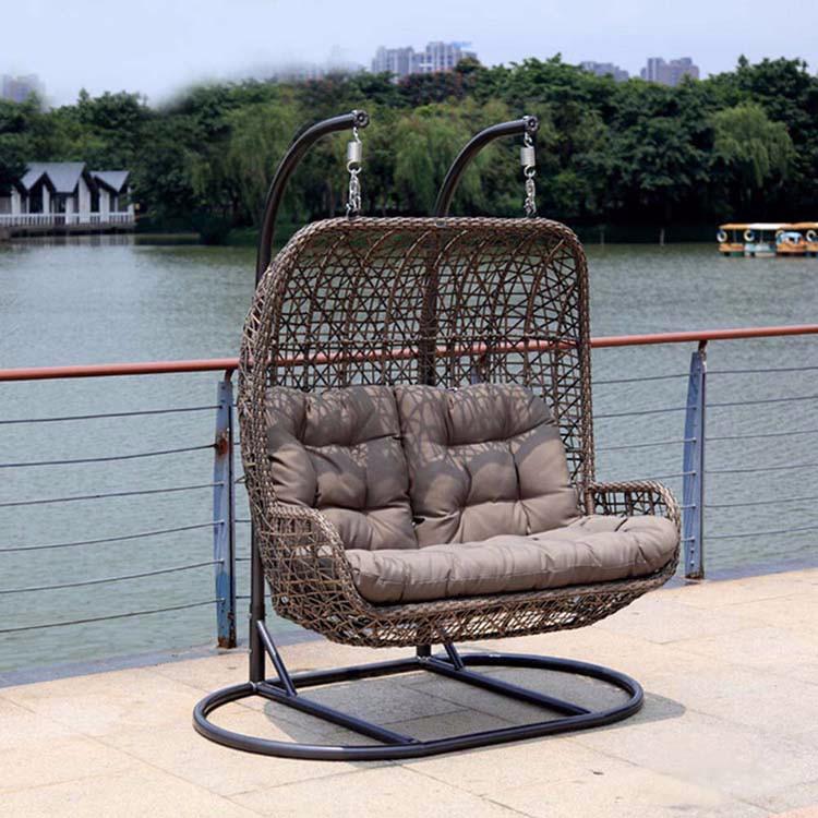Luxury Outdoor Furniture Double Seat Hanging Indoor Swing