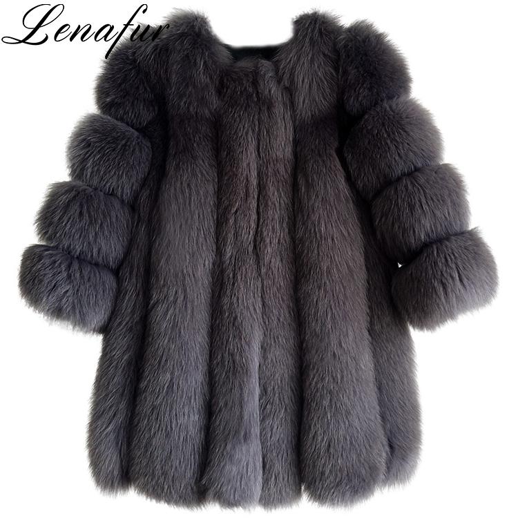 d24368a37e 2018 HOT High Quality Women Fashion Elegant Real Fox Fur Coat, View Fox Fur  Coat, lenafur Product Details from Tongxiang Lena Clothing Co., Ltd. on  Alibaba. ...