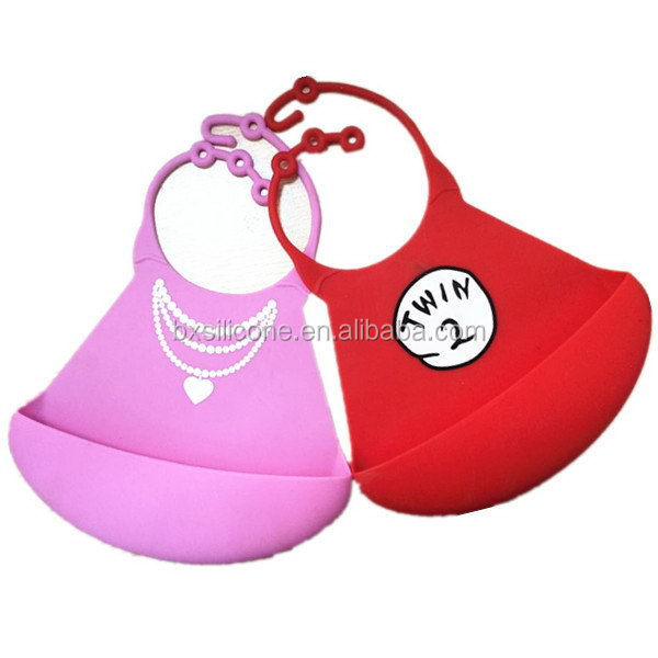Super quality classical new promotional nice silicone baby bibs