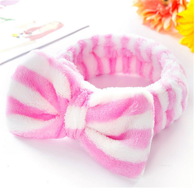 Fashion Hair Plush Bath Large Bow headband For Ladies