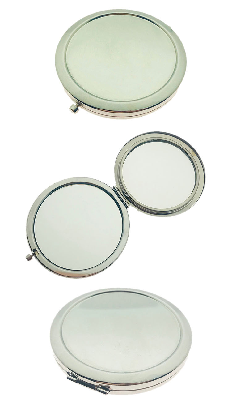 Metal Round Cheap Blank Custom DIY Compact Hand Pocket Mirror