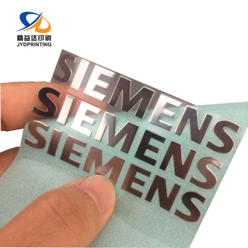 Free Sample Wholesale Brand Logo Customized Die Cut Metal Plaque 3D Sticker Label