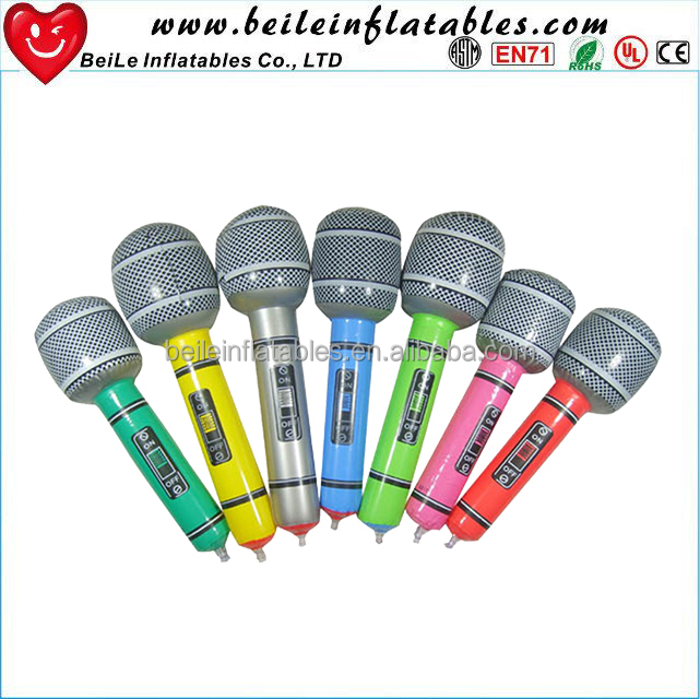 PVC inflatable handheld music microphone toys