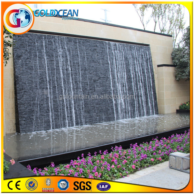 Fiberglass Rock Waterfall With Waterproof Led Light