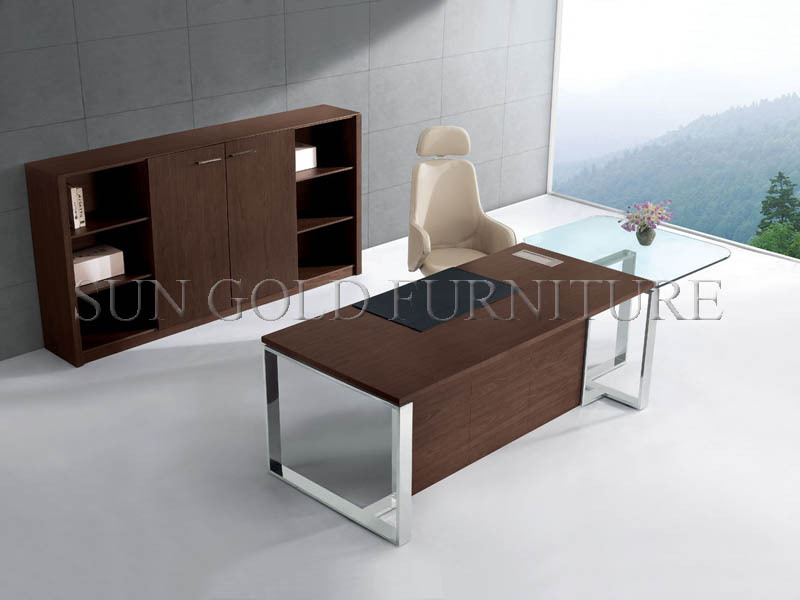 Glass top office table Modern Glass Computer Modern Office Desk With Glass Topoffice Table With Steel Foot Designoffice Executive Desk szod010 Alibaba Modern Office Desk With Glass Topoffice Table With Steel Foot