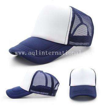 fb2498bf613f7 wholesale blank trucker hats caps for sublimation custom plain trucker cap  foam hats blank mesh back