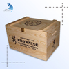 Wholesale custom made 6 bottle classic solid wood wine glass gift box