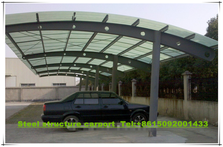 Prefab Steel Structure Sunshade Carport Car Shed Garage