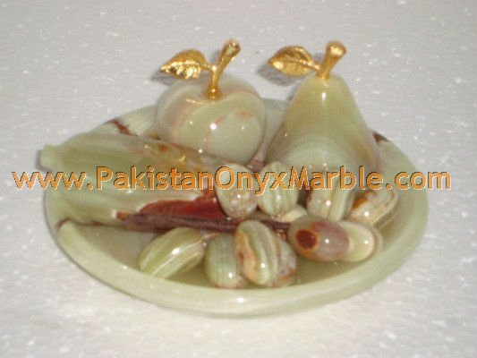 NATURAL STONE ONYX FRUITS PLATES HANDICRAFTS