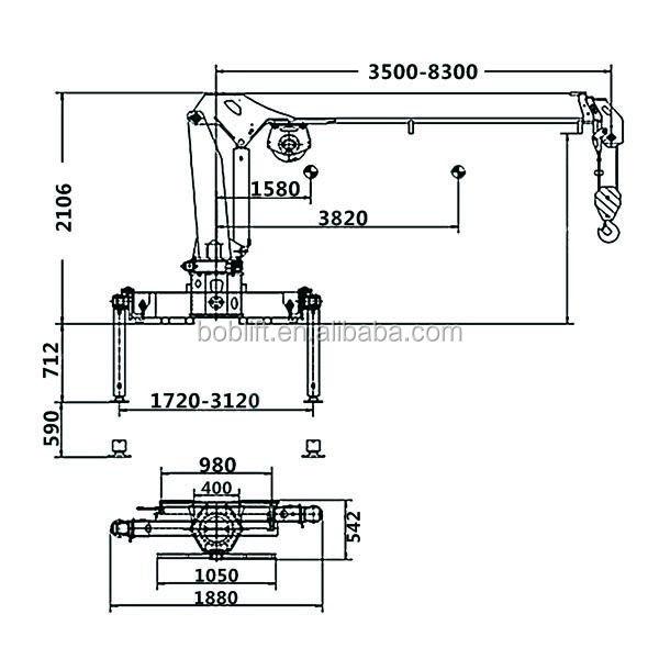 3 Ton Used Mni Truck Mounted Hydraulic Telescopic Boom Cranes And Lifts Crane Machinery Factory