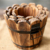 Custom Wholesale New Rustic Small Ornamental used wood flower cask barrel sale