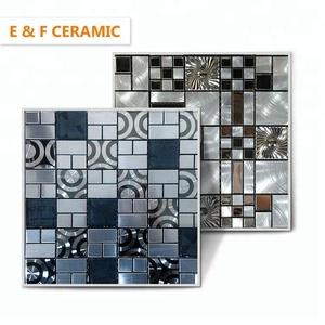 foshan comfortable decoration material mosaic silver blends copper color building material metal mixed mosaic
