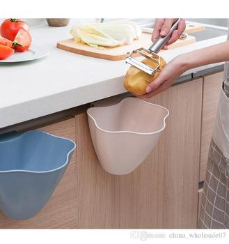 Multifunction Kitchen Cupboard Door Hanging Garbage Cans Desktop Rubbish Organize Container Debris Trash Bins Storage Box