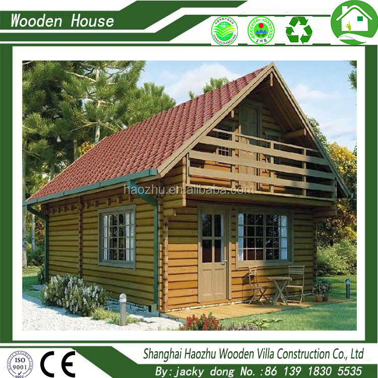 Prefabricated luxury wood house bungalow for sale