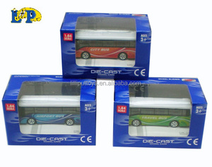 Free wheel mini metal model car die cast toy bus