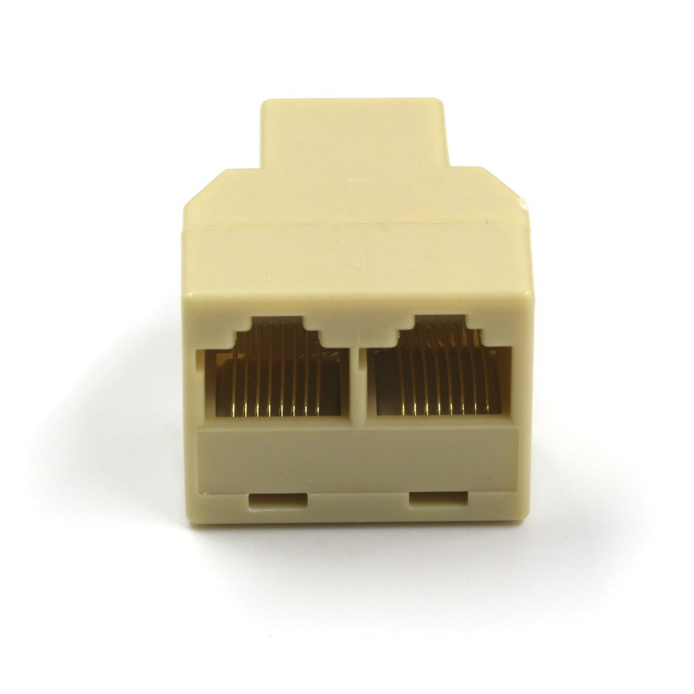 Cheap Ethernet Connector Find Deals On Line At Wiring Cat5 Wall Socket Get Quotations 10 Pcs Rj 45 Rj45 Splitter Cat6 Lan 8p8c Network