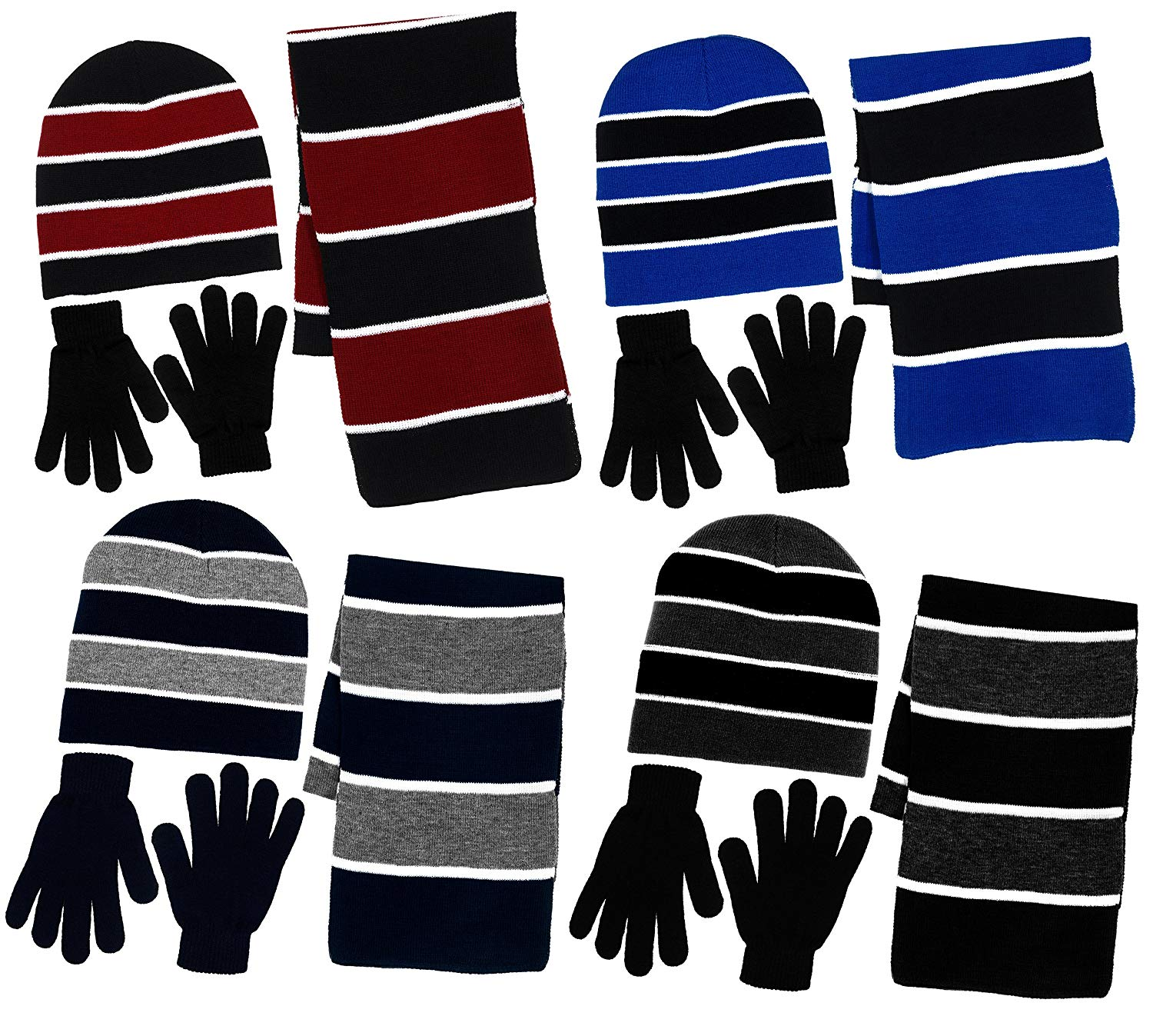 7bc93add58a Get Quotations · Boys 3 Piece Knit Hat