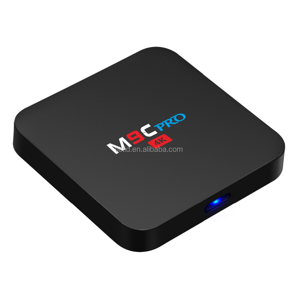 TICTID M9C PRO Android 6.0 TV <strong>Box</strong> Amlogic S905X Quad Core 4K 1G/8G Flash Wifi Preinstalled <strong>Set</strong> Top <strong>Box</strong>