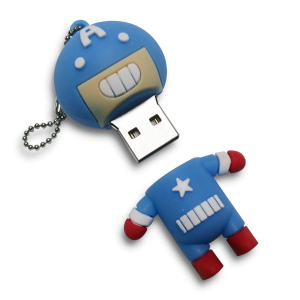 China Factory PVC material Cartoon anime custom usb flash drive disk - USBSKY | USBSKY.NET