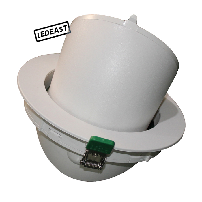 6 Inch Hole Size Adjustable 35w Led Down Light Fixtures E27 Light ...