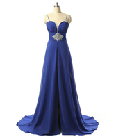 New Arrival Chiffon Royal blue Evening dress 2017 Formal dress Evening party dresses BXB125
