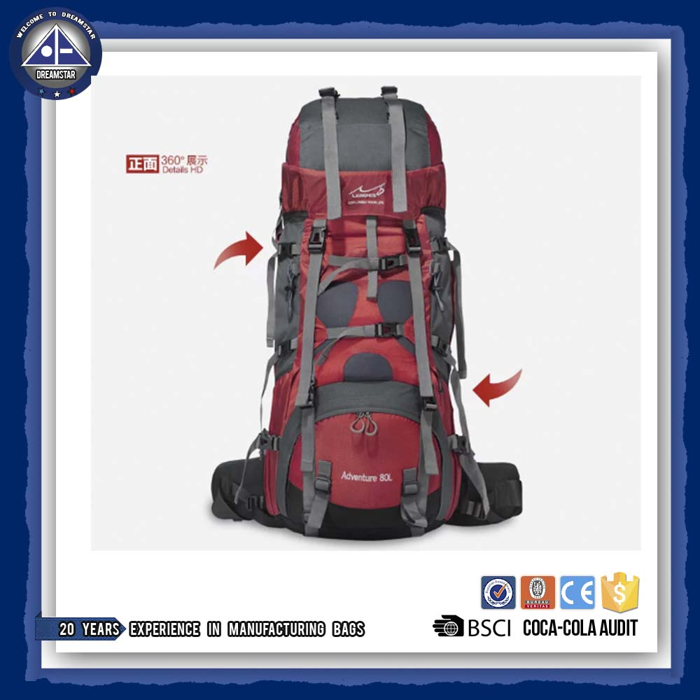 2017 Outdoor Large backpack 80 L super capacity Backpack hunting