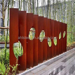 Laser cut wall panel cladding 2mm rusted corten steel sheet