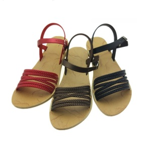 custom popular summer ladies fancy flat sandal