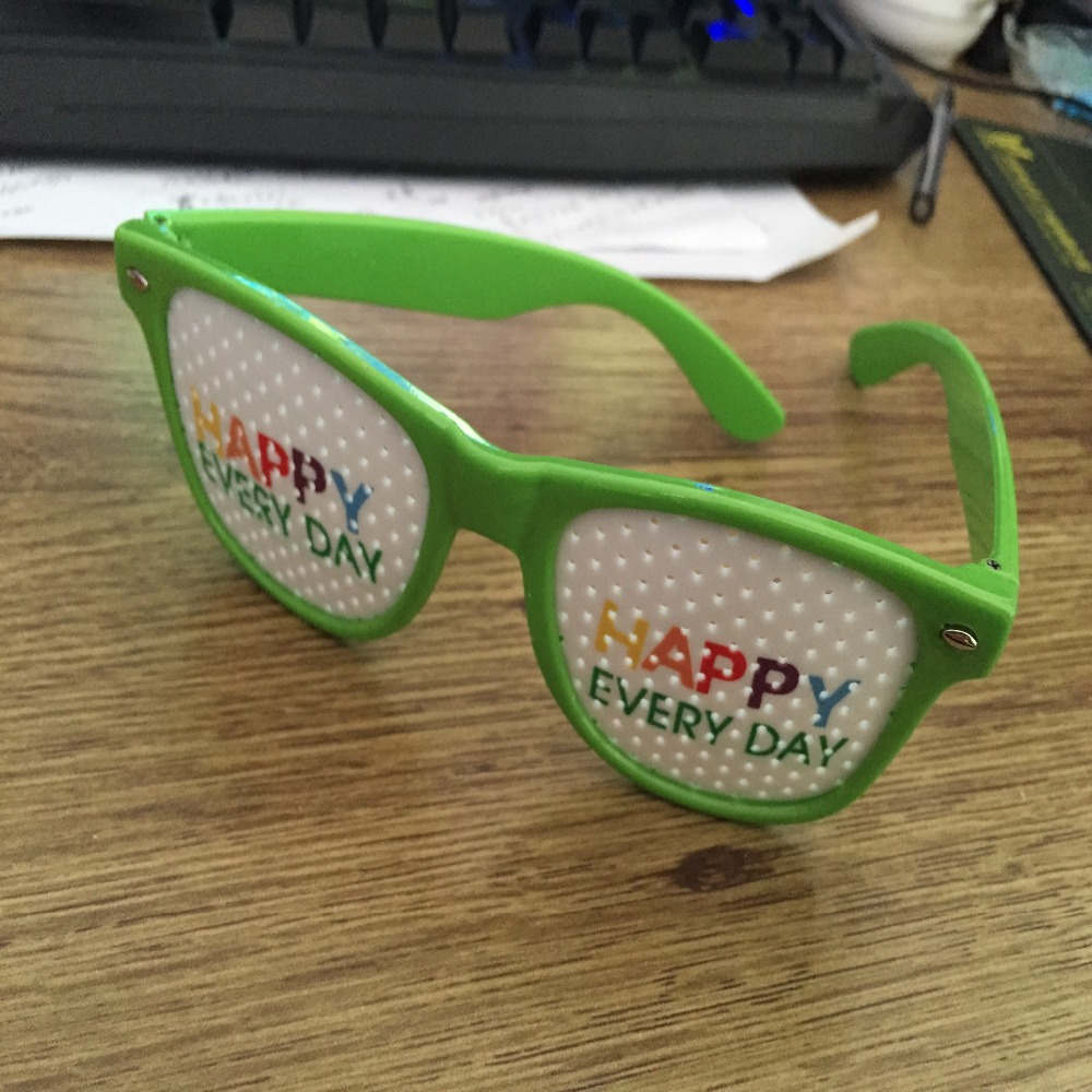 Wholesale custom PC material neon pinhole sunglasses with your logo