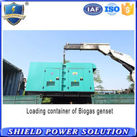 3 phases 200 kw silent type nature gas generator