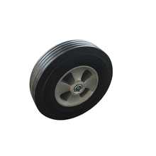 Super high quality sturdy heavy duty small solid rubber wheel