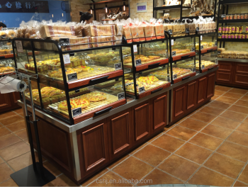 Cafe Shop Center Island Display Cabinet For Bread/ Bakery Display ...