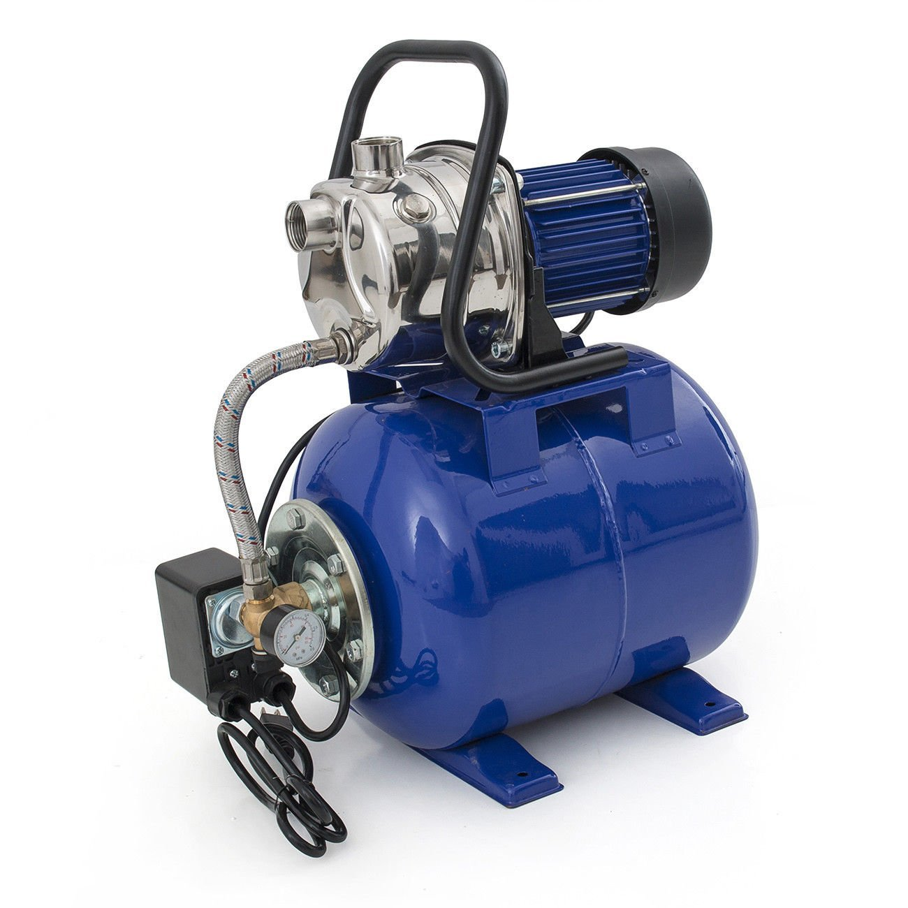 GHP 1.6HP 1200W Blue Shallow Water Pressurized Electric Garden Jet Booster Pump